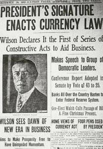 woosrow wilson federal reservew
